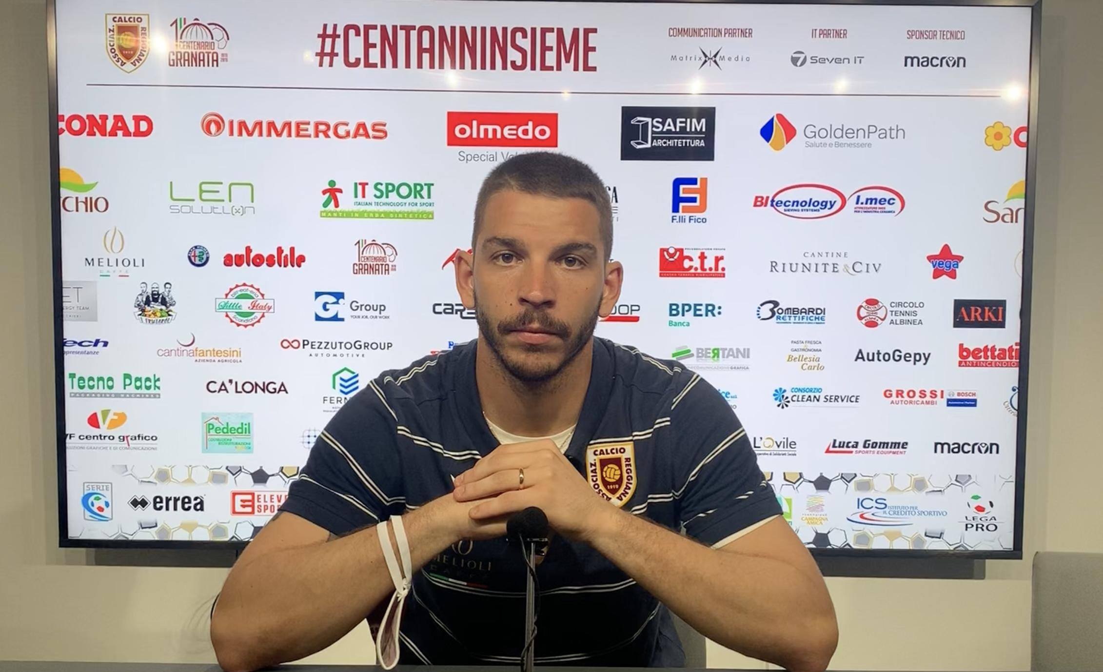 Reggiana – Potenza: l'intervista a fine partita a Giacomo Venturi