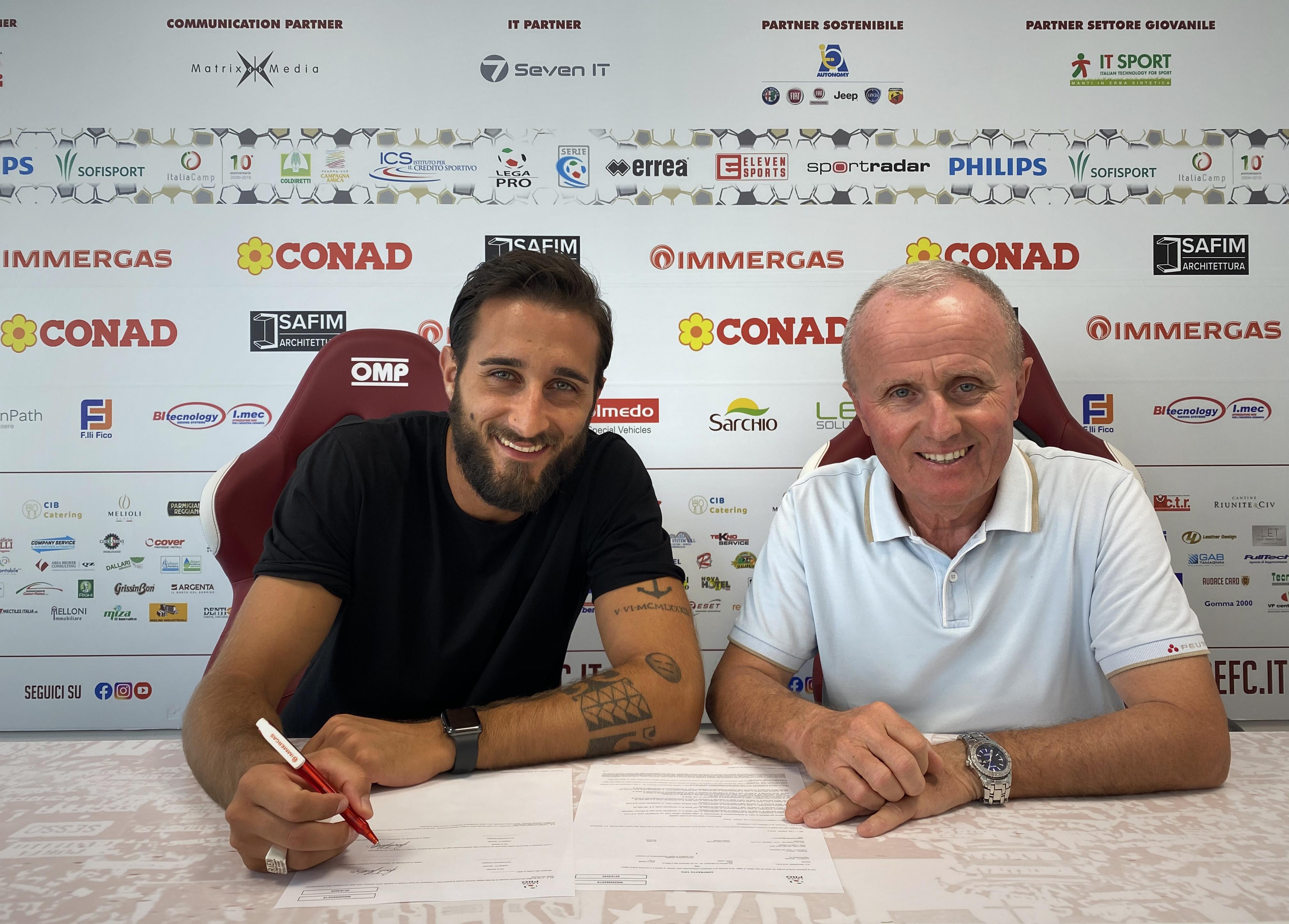 Paolo Rozzio prolunga il contratto con la Reggiana