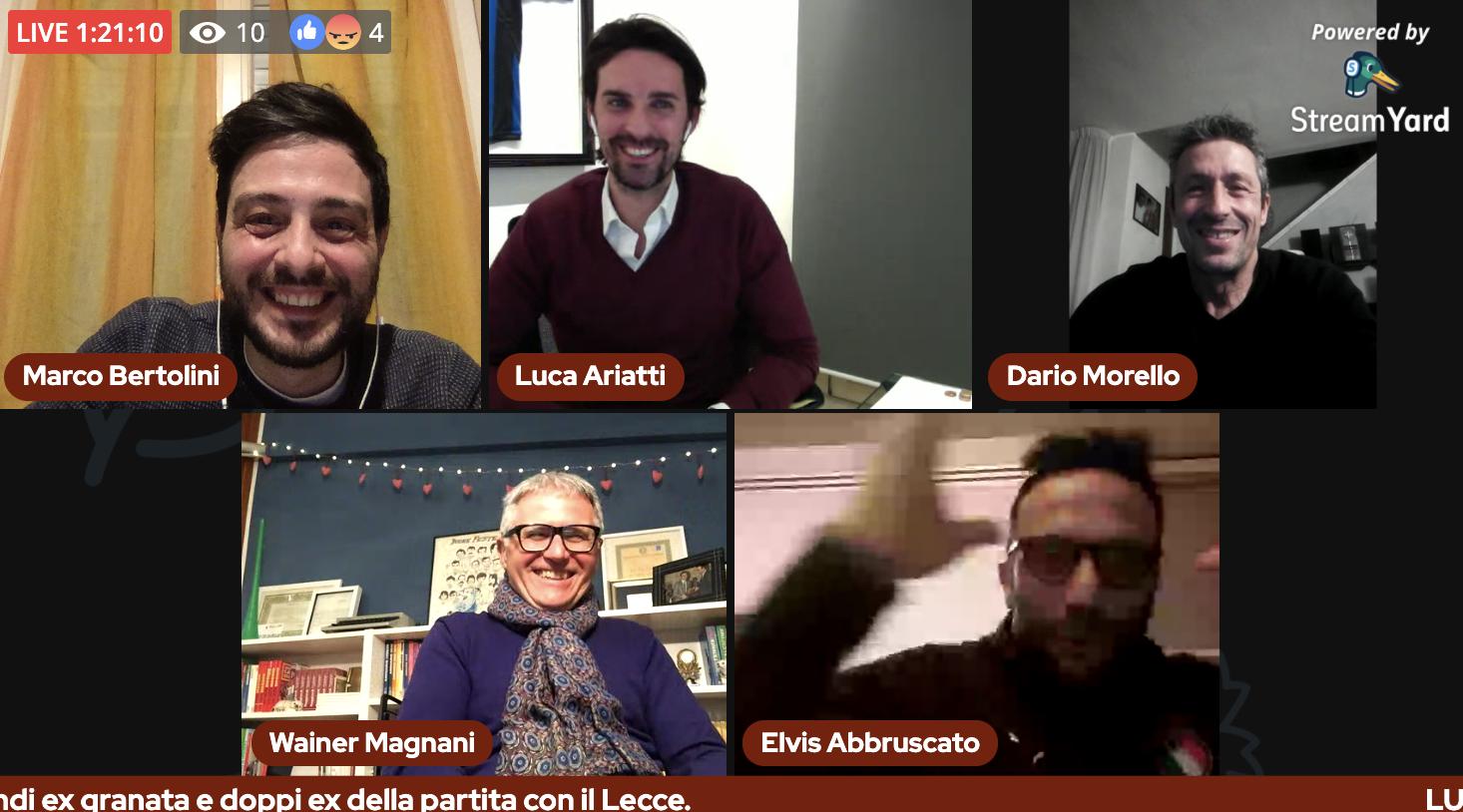 Il Bar della Gazzetta: 14^ puntata con Luca Ariatti e Elvis Abbruscato