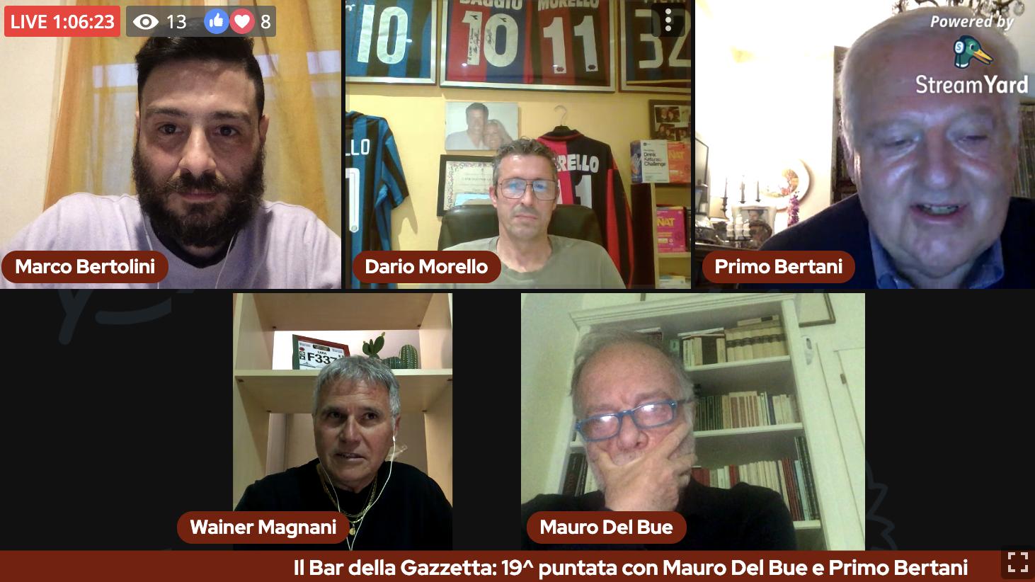 Il Bar della Gazzetta: 20^ puntata con Mauro Del Bue e Primo Bertani