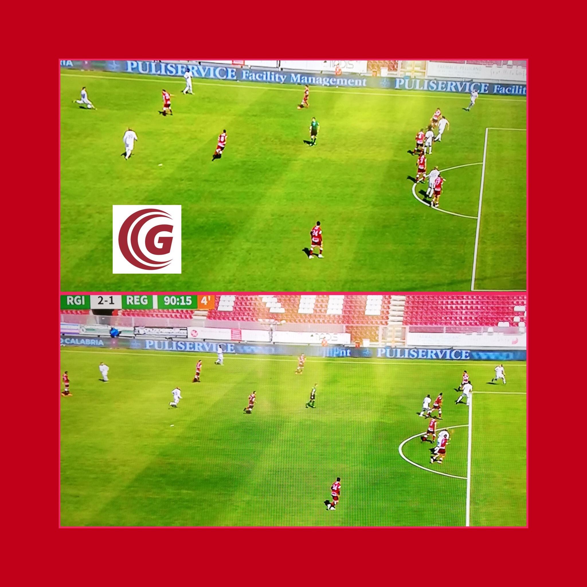 La Reggiana perde: annullato il gol di Lunetta per il fuorigioco di Kirwan